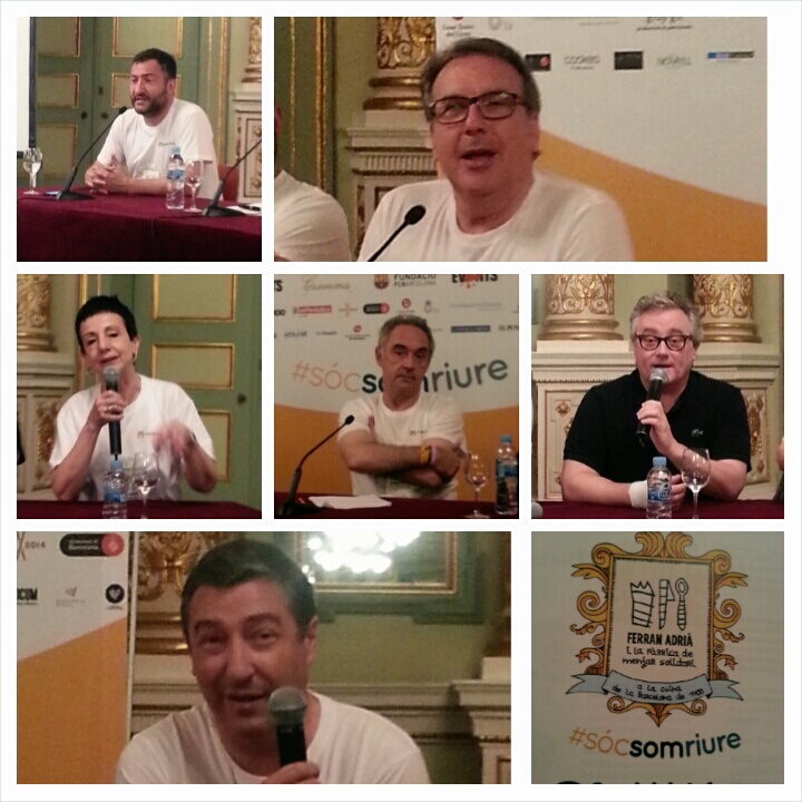 Toni Soler, Josep Cuní, Carme Ruscalleda, Ferran Adrià, Christian Escribà, Joan Roca