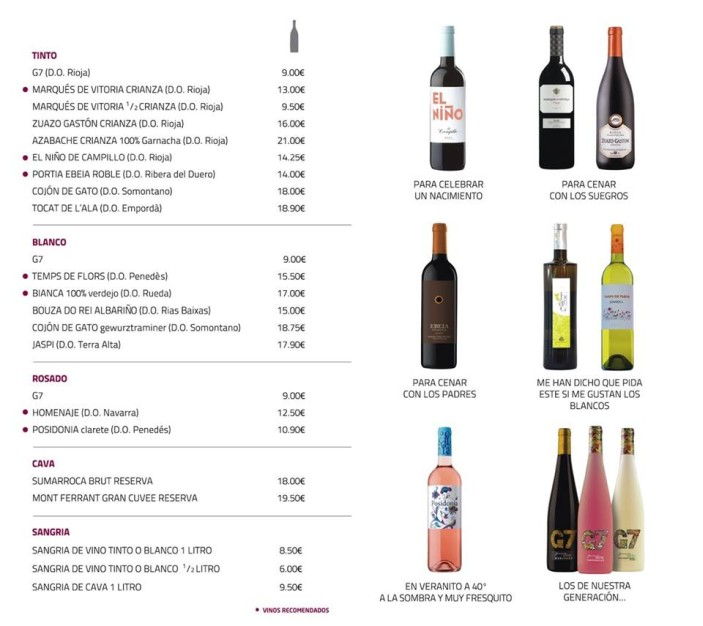 the tapas vino carta 1